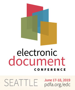 Logo Electronic Document Conference (EDC) 2019, Seattle USA