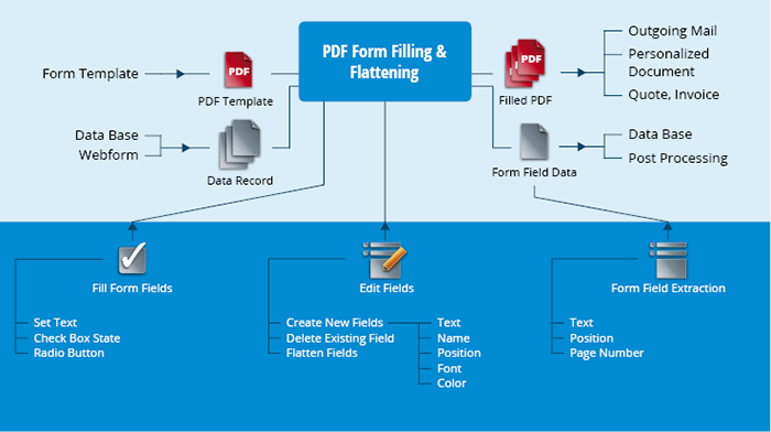Illustration du produit PDF Form Filling & Flattening