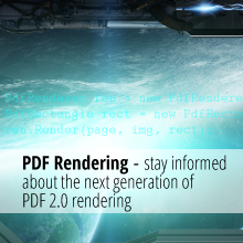 PDF Rendering - stay informed about the next generation of PDF 2.0 rendering